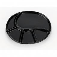 talerz do fondue, 28,5x22 cm, czarny