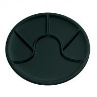 Talerz na dodatki fondue 25 cm Kuchenprofi czarny