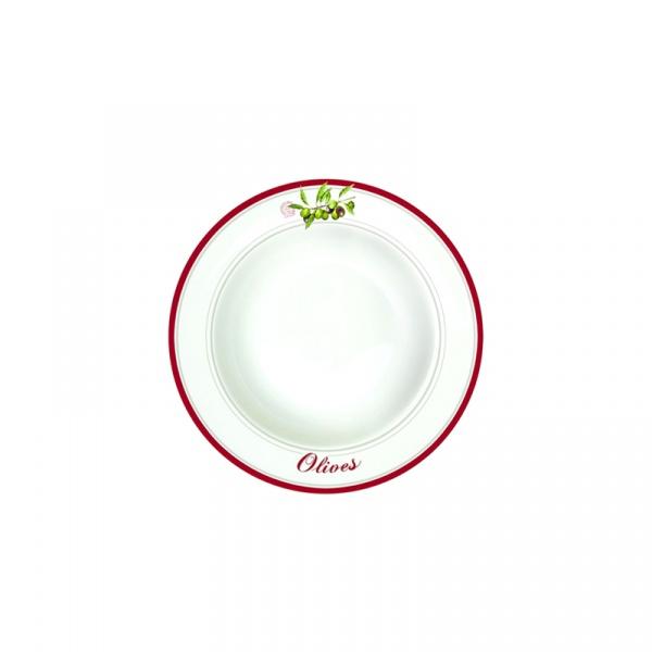 Talerz na zupę 21,5 cm Nuova R2S Bistrot Olives oliwki 943 OLIV