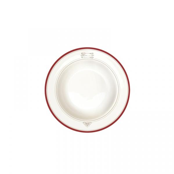 Talerz na zupę 21,5 cm Nuova R2S Bistrot Olives sztućce 943 BIST