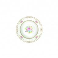 Talerz na zupę 21,5 cm Nuova R2S Vintage Bouquet biały