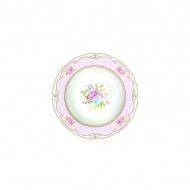 Talerz na zupę 21,5 cm Nuova R2S Vintage Bouquet różowy