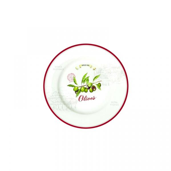 Talerz płytki Nuova R2S Bistrot Olives oliwki 942 OLIV