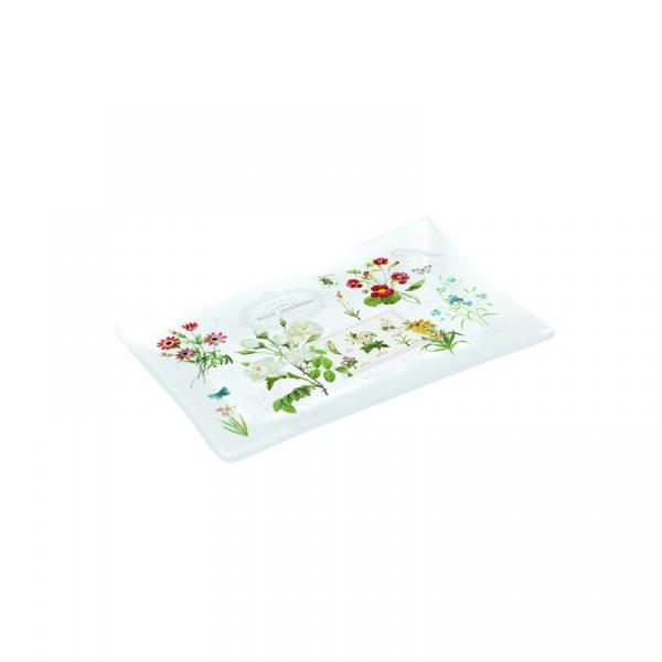 Talerz szklany 9,5x15,5cm Nuova R2S Romantic polne kwiaty 248 NATU
