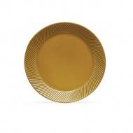 talerz, żółty, ceramika, śred. 20 cm