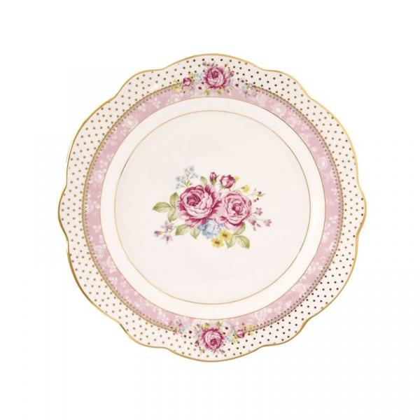 Talerzyk deserowy 19cm Nuova R2S Heritage różowy 1515 HEPI