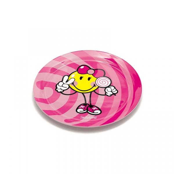 Talerzyk dla dziewczynki 20 cm Smiley Kid Zak! Designs 6707-3460
