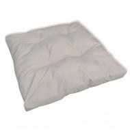 Tapicerowana poduszka do siedzenia, biały piasek 80 x 80 x 10 cm
