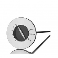 Termometr z korkiem do wina 4,7x15cm AdHoc Champ srebrny