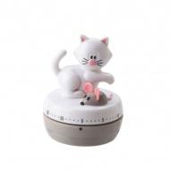 Timer kuchenny mechaniczny Kot MSC Meow biały
