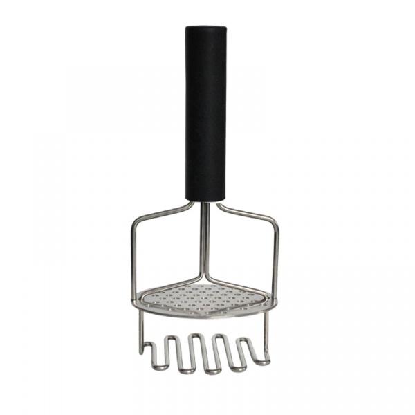 Tłuczek do ziemniaków 24,5cm Moha Kangou czarno-srebrny MO-31509