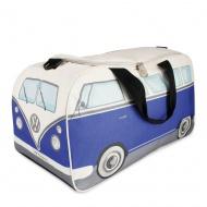 Torba sportowa 50x25x26 cm BRISA VW BUS niebiesko-beżowa