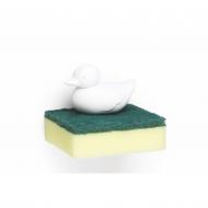 Uchwyt na gąbkę kaczka Duck biały 10225-WH