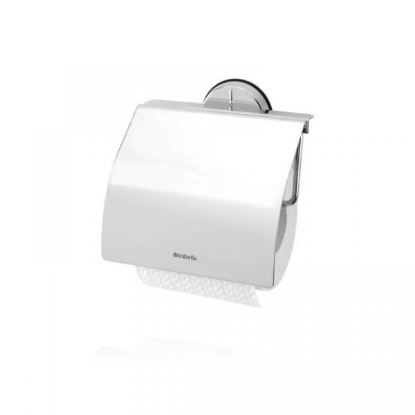 Uchwyt na papier toaletowy stal polerowana 14,8cm Brabantia Bathroom line srebrny BR 42-76-02