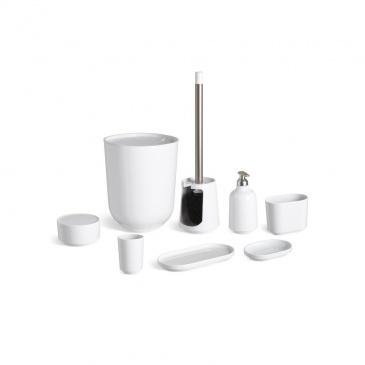 UMBRA - Kosz łazienkowy z pokrywą, biały, STEP