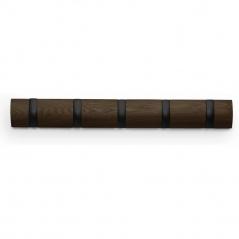 UMBRA - Wieszak ścienny  drewno/czarny, Flip 5