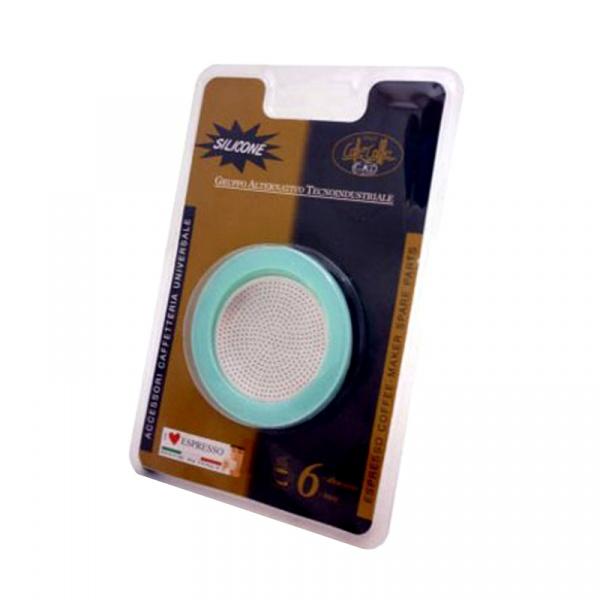Uszczelki do kawiarek 9/10 Gat 2 szt.+filtr GA-105009RI1SIL