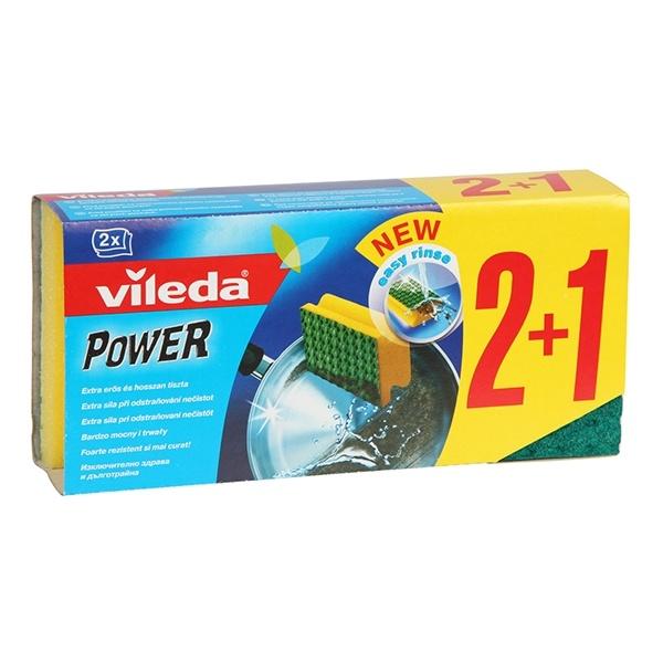 VILEDA 2+1szt Zmywak Green Power 5999501253426