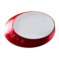 Waga elektroniczna z timerem Casa Bugatti Glamour czerwona