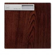 Waga łazienkowa 30x30 cm Kela brązowy