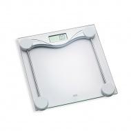 waga łazienkowa, do 180 kg, 28 x 28 cm, przezroczysta