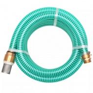 Wąż ssący z mosiężnymi złączkami, 3 m, 25 mm, zielony