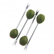 Widelczyki do przekąsek 11 cm Swift zielona oliwka 4 szt.