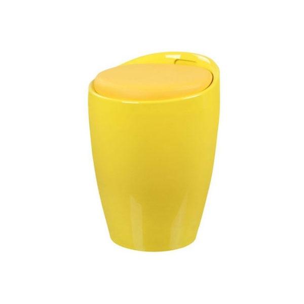 Wielofunkcyjna pufa King Bath Tubo żółta K-705B.ZOLTY
