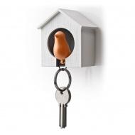 Wieszak na klucze Budka biało-pomarańczowa 10091-WH-OR