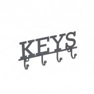 Wieszak na klucze KEYS - 4 haczyki Kitchen Craft Living Nostalgia szary