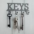 Wieszak na klucze KEYS - 4 haczyki Kitchen Craft Living Nostalgia LNKEYHOOK