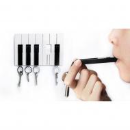 Wieszak na klucze Piano czarno-biały 10144-BK