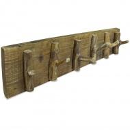 Wieszak na płaszcze, lite drewno z odzysku, 60 x 15 cm