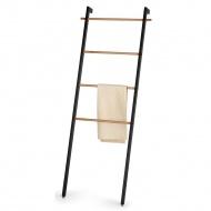 wieszak na ręczniki, 56 x 180 cm, metal/drewno dębowe