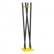 Wieszak stojący 173cm Moika żółto-czarny