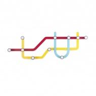 Wieszak Umbra Subway wielokolorowy