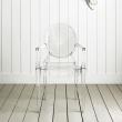 Włoskie krzesło King Bath Louis Ghost transparentne 124-APC.CLEAR