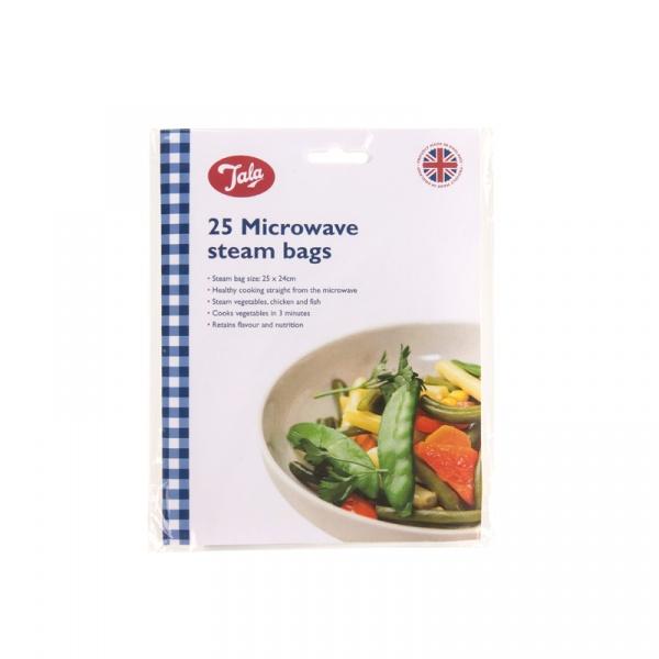 Woreczki do gotowania na parze w kuchence mikrofalowej 25 szt. Tala 10A10530