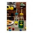 Zak! - Butelka ze słomką 550ml, zielona, Smiley 6727-0170