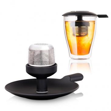 Zaparzacz do herbaty z pokrywką Tomorrows Kitchen czarny