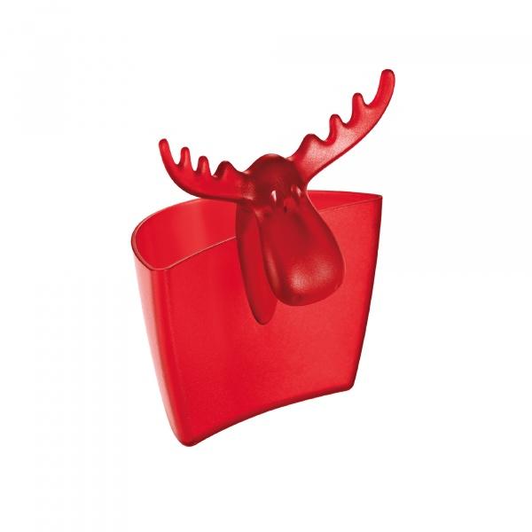 Zawieszka na kubek Koziol Rudolf czerwona transparentna KZ-3557536