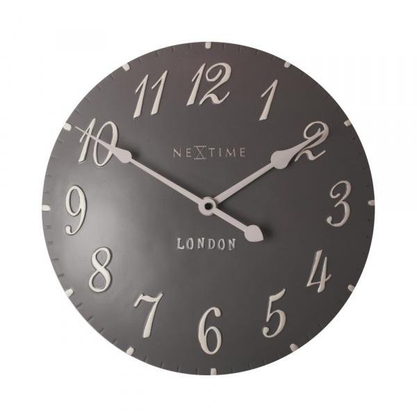 Zegar 34,5 cm NeXtime London Arabic grafitowy 3084GS