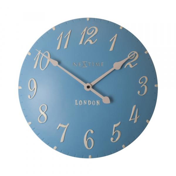 Zegar 34,5 cm NeXtime London Arabic niebieski 3084BL