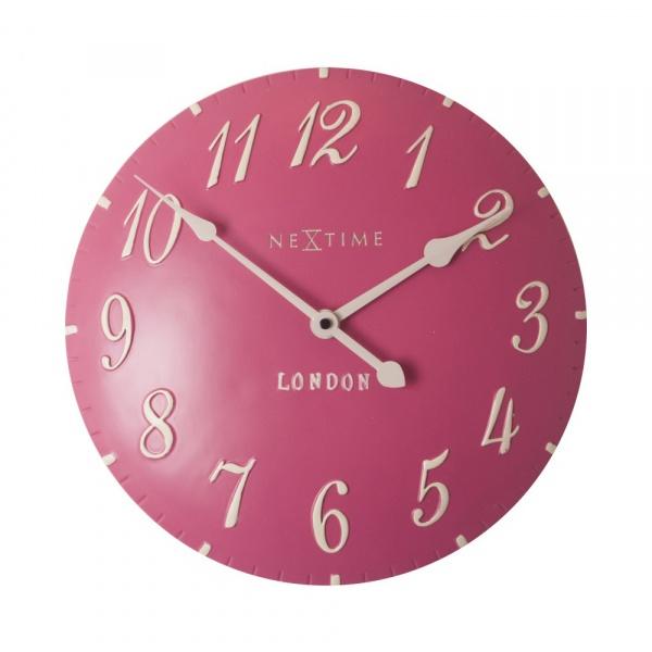 Zegar 34,5 cm NeXtime London Arabic różowy 3084RZ