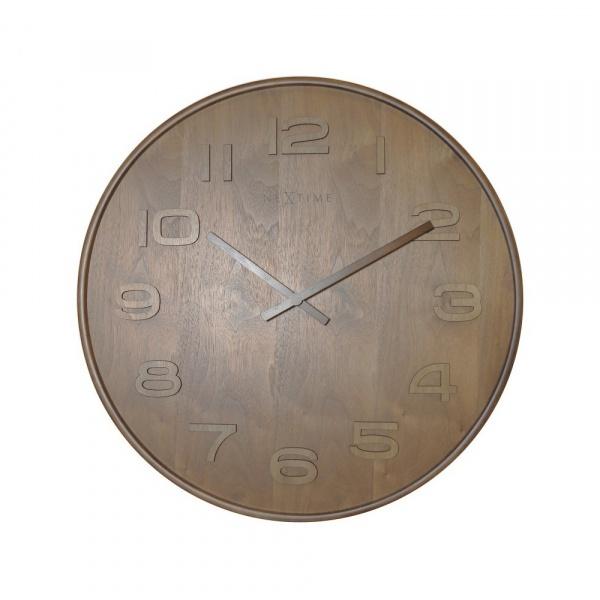 Zegar 35 cm NeXtime Wood Wood Medium brązowy 3096BR