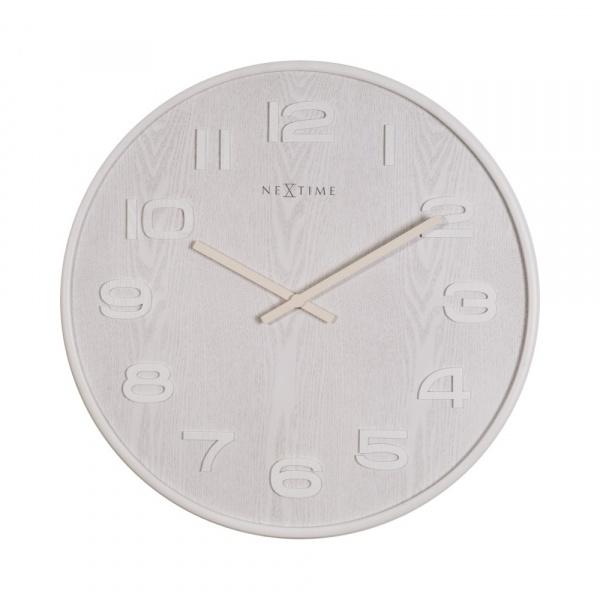 Zegar 52,8 cm NeXtime Wood Wood Big biały 3095WI