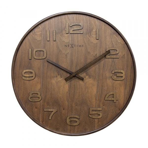 Zegar 52,8 cm NeXtime Wood Wood Big brązowy 3095BR