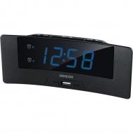 Zegar cyfrowy z budzikiem i ładowarką USB Sencor SDC 4912 BU