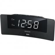 Zegar cyfrowy z budzikiem i ładowarką USB Sencor SDC 4912 WH