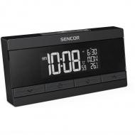 Zegar cyfrowy z budzikiem z termometrem i ładowarką USB Sencor SDC 7200